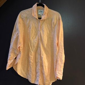 Flax Shirt with Pockets Peach EUC